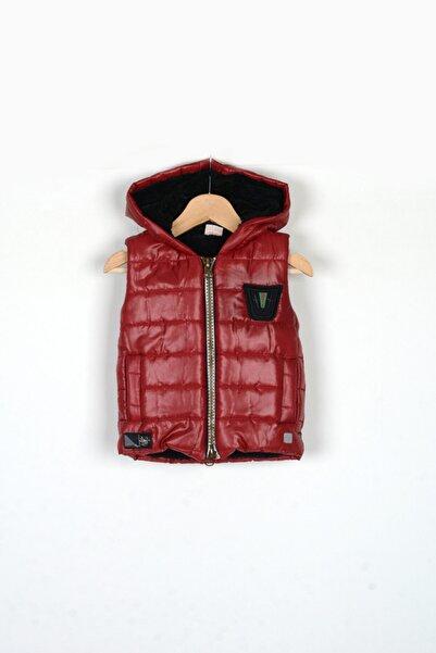 Midimod Erkek Çocuk Kırmızı Kapüşonlu Şişme Yelek