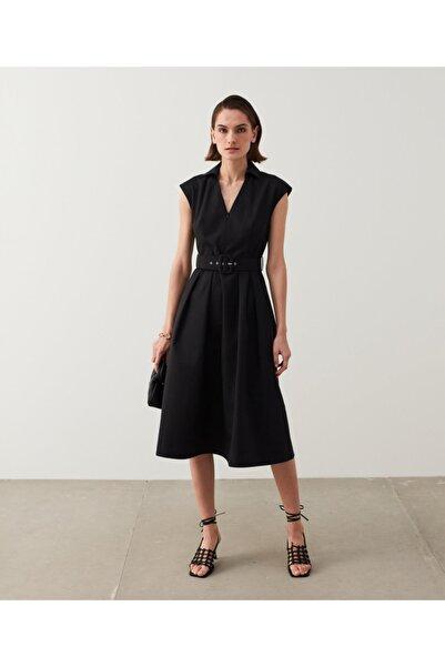 İpekyol Kemerli Midi Elbise