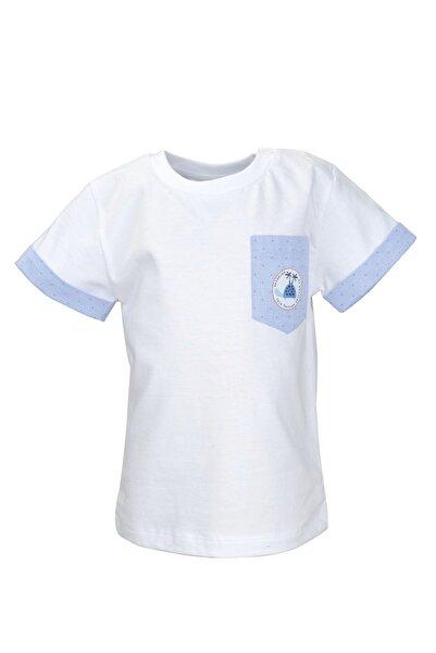 Zeyland Beyaz Cepli Kol Parçalı T-shirt (9ay-4yaş)