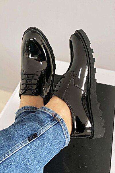 BIG KING Siyah Rugan Erkek Klasik Ayakkabı