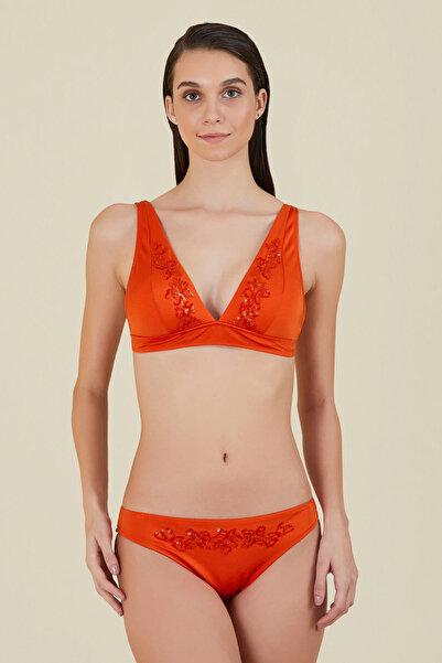 Kom V Yaka Taşlı Bikini