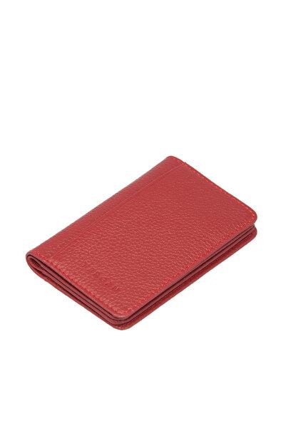 Tergan Hakiki Deri Kırmızı Unisex Kredi Kartlık S1KK00001601