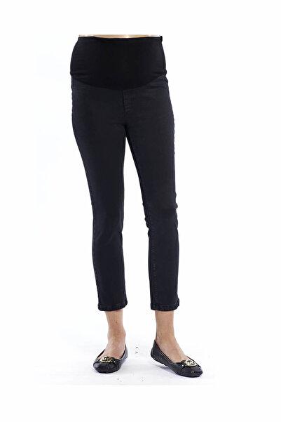 Motherway Siyah Hamile Slimfit Kısa Paça Pantolon Pm213