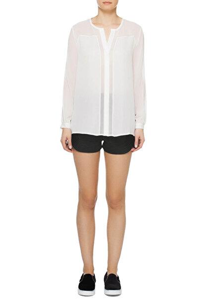 Haute Hippie Kadın Beyaz  Bluz Şifon Parça Detaylı - HAU01101007