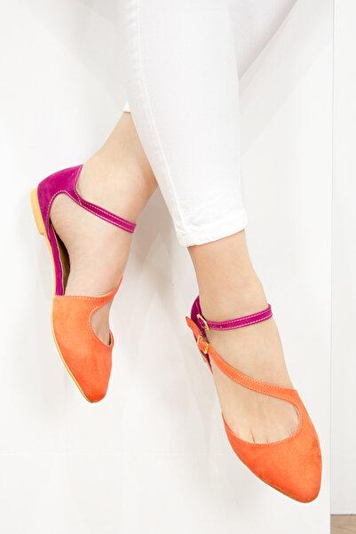 Fox Shoes Turuncu Fuşya Kadın Ayakkabı D726016902