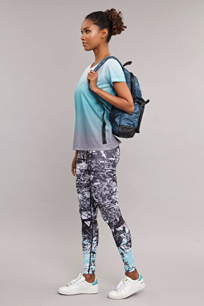 bilcee Mavi Kadın Antrenman  T-Shirt ES-3549
