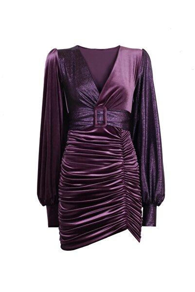 Nunu's Closet by Nur Karaata Kadın Aurora Mor Elbise NCRUNWAY12