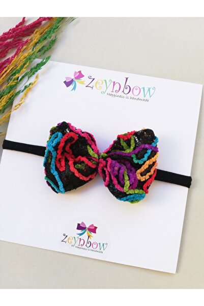 Zeynbow Bebek Siyah Kırmızı  Otantik Saç Bandı