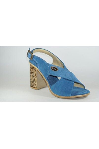 Pierre Cardin Kadın Mavi Topuklu Sandalet