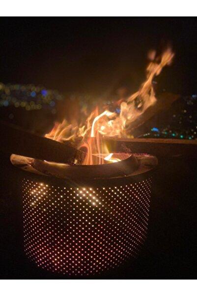 Karadağ Taşınabilir Ateş Çukuru Bahçe Şöminesi Krom Paslanmaz Çelik Açık Kamp Ateşi New Ateş Kovas