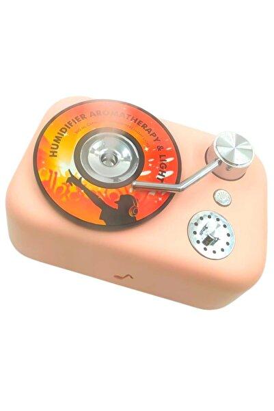 Trend Avenue Renkli Işıklı Bebek Hafif Usb Kablolu Gramofon Oda Ev Ortam Hava Nemlendirici Buhar Makinesi