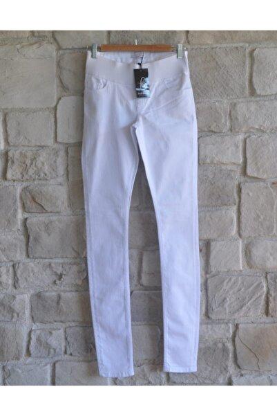 Posh Bump Beyaz Hamile Jean Pantalon