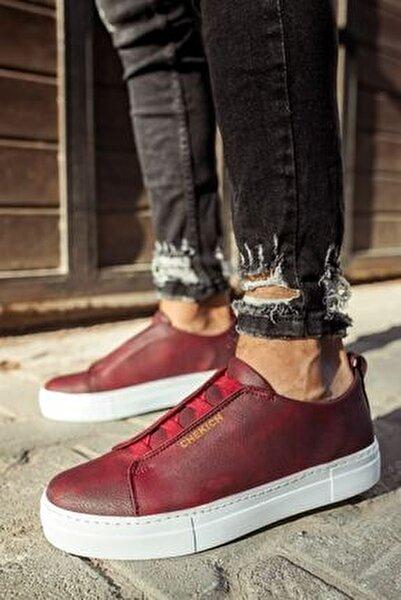 Ch013 Bt Erkek Ayakkabı Bordo