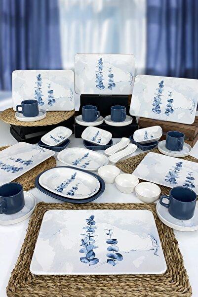 Keramika Blue Magic 32 Parça 6 Kişilik Siera Kahvaltı Takımı  19861