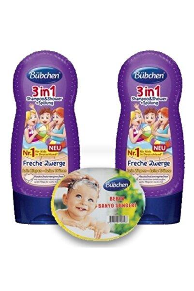 Bübchen 3ü 1 Arada Çocuk Şampuanı Ve Duş Jeli 230 Ml 2 Li X 2 Ad