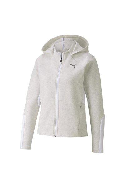 Puma EVOSTRIPE FZ HOODIE Beyaz Kadın Eşofman 100584050