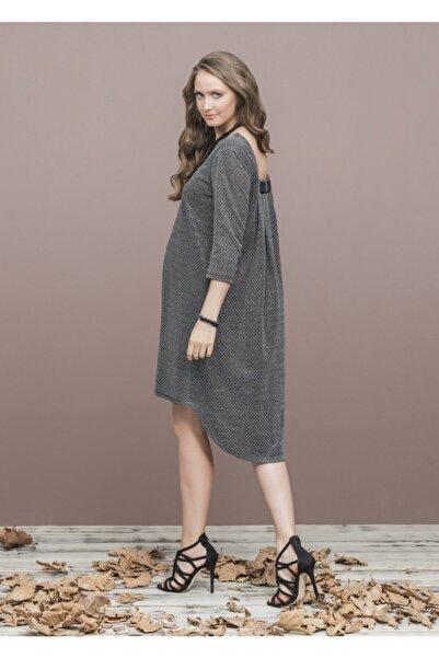 Even Fashion Hamile Giyim Simli Kısa Abiye Hamile Elbise
