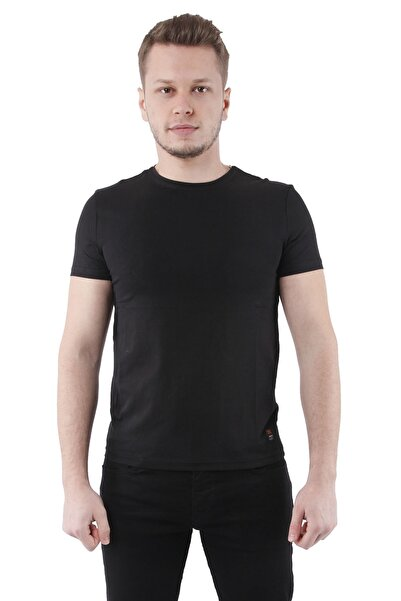 Canelia Siyah Erkek Slimfit T-shirt