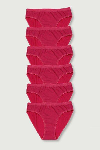 Tutku Kadın Pembe Renk Bikini Külot 6 Adet