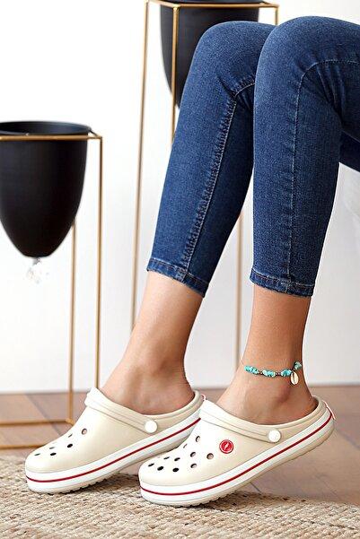 Pembe Potin Unisex Krem Sandalet