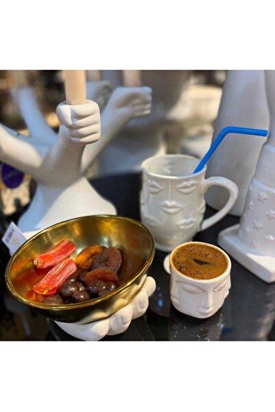 LAMEDORE Adler White Face 6 Kişilik Türk Kahvesi Fincanı
