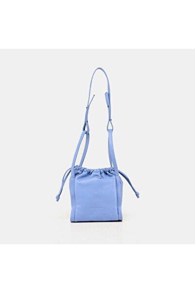 Hotiç Hakiki Deri Mavi Kadın Mini (çapraz) Çanta