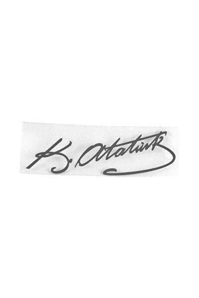 Carub Metal Yazı Atatürk Imza 8x2 Cm Br0304914