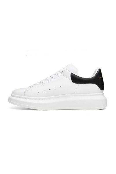Lion Unisex Beyaz Deri Spor Ayakkabı Y5