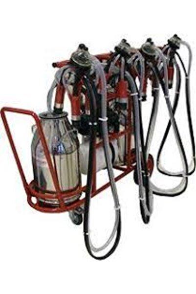 Kurtsan Süt Sağım Makinası Dörtlü Sağım Krom Çift Güğüm Mobil Makina
