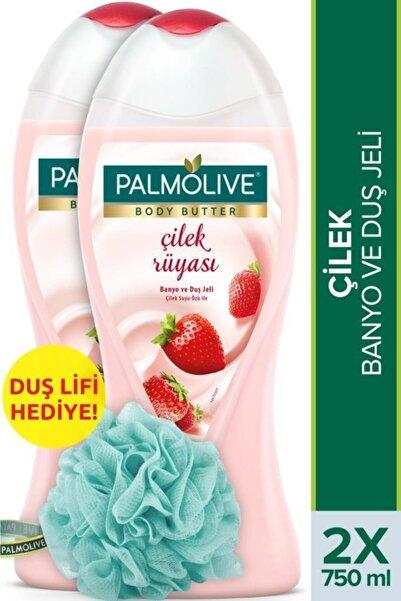 Palmolive Body Butter Çilek Rüyası Banyo Ve Duş Jeli 2 X 750 ml + Duş Lifi Hediye