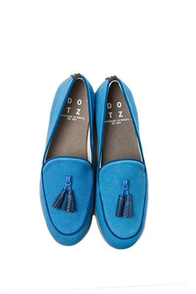 DOTZ Erkek Mavi Püsküllü Loafer Ayakkabı