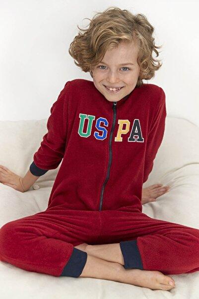 U.S. Polo Assn. Erkek Çocuk Polar Tulum Bordo