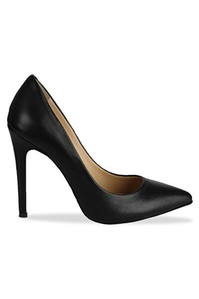 Vario Kadın Siyah Napa Topuklu Ayakkabı