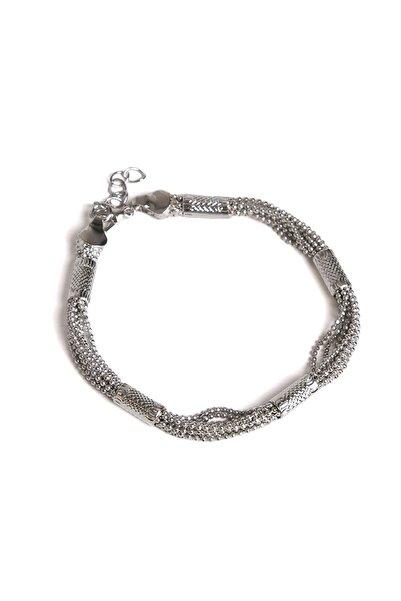 Marjin Kadın Çoklu Tel Tasarım Gümüş Renkli Bileklikgümüş