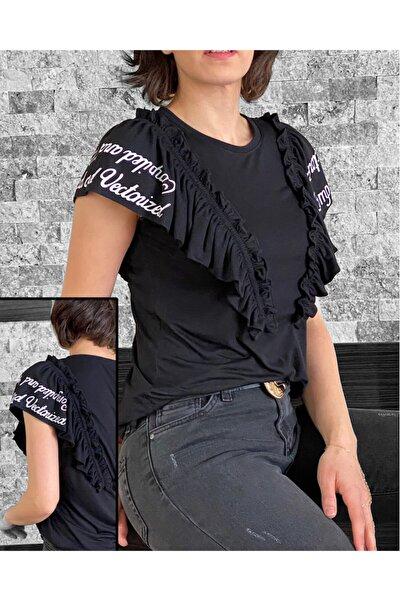 4Trend Volan Üzeri Baskılı T-shirt