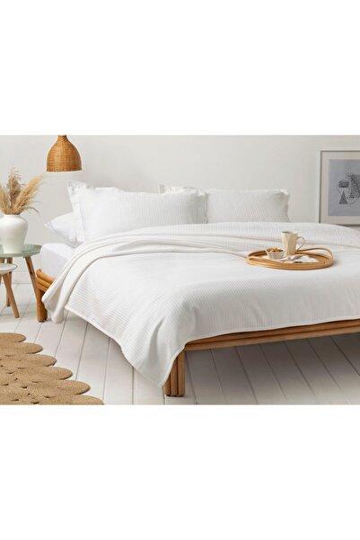 English Home Dikdortgen Pamuk Tek Kişilik Pike 160x230 Cm Beyaz