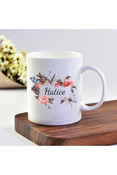 eKUPAM Hatice Isimli Çiçek Motifli Kupa Bardak - 001721