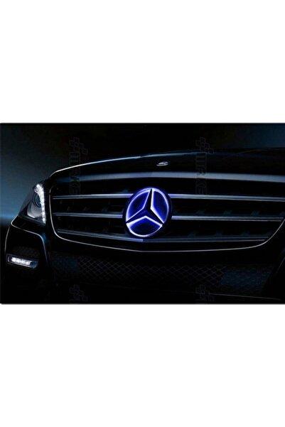 MERCEDES Benz Ön Panjur Mavi Led Işık Büyük Yıldız Logosu