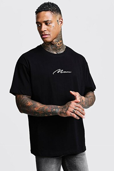 Oksit Man Imza Detaylı Oversize T-shirt