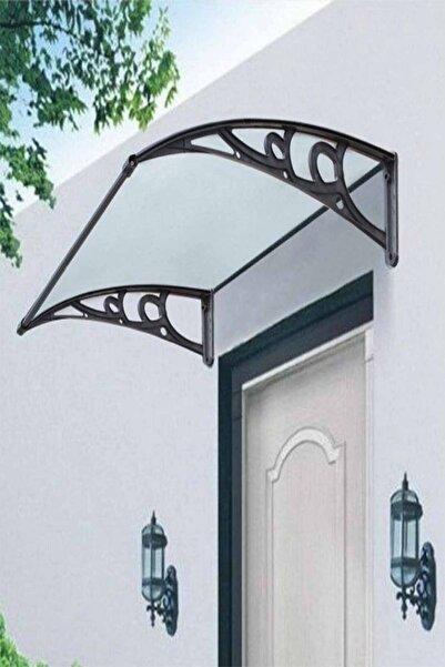 Evim Koyu Gri Kapı Üstü Sundurma Gölgelik 100x120 cm