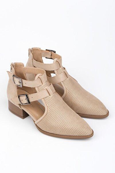 Marjin Bej Kadın Elnar Topuklu Ayakkabı 19Y00018LD0321