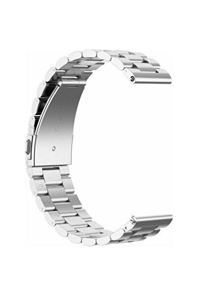 Mobicas Huawei Watch Gt 2e Uyumlu  46mm (22mm) Klasik Model Metal Kayış-kordon Gri