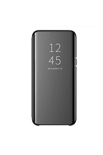 i-Stone Samsung Galaxy S20 Plus Uyumlu Siyah Clear Kapaklı Kılıf