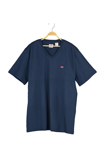 Levi's Erkek Orıg Hm Vneck Lse_Dress Blues Blues Pat T-Shirt 85641-0017