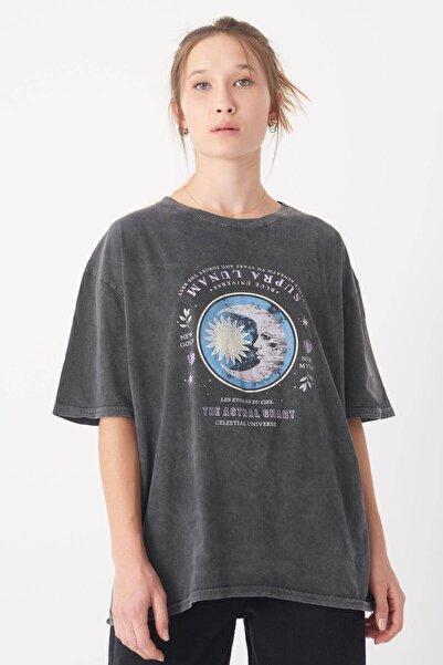 Addax Baskılı T-shirt P0943 - U1