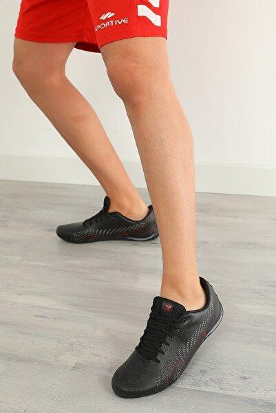 julude Erkek Siyah Spor Ayakkabı