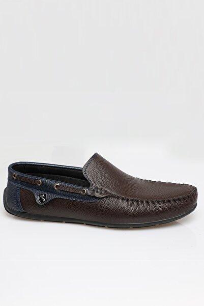 zincirport Erkek Kahve Lacivert Rog Loafer Ayakkabı