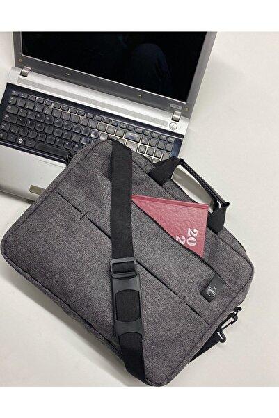 """Moda West Unisex West Serisi 15.6"""" Inç Gri Evrak Bilgisayar Notebook Laptop Çantası"""