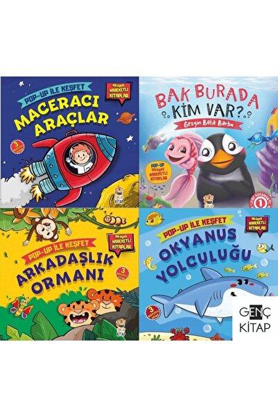 Sincap Kitap 3 Boyutlu 4 Kitap Set Pop Up Maceracı Araçlar Okyanus Yolculuğu Arkadaşlık Ormanı Bak Burada Kim Var