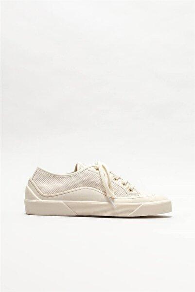 Elle Shoes Kadın Ekru Sneaker